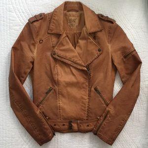 HP🎉Zara Trafaluc Vegan Leather Moto Crop Jacket S